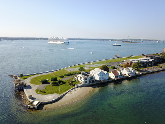 19 Defenders Row Newport RI aerial