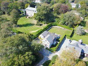 aerial 128 Webster St. Gardener's Cottage
