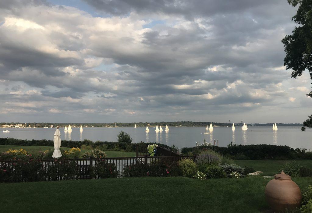 sail boats racing in Bristol RI