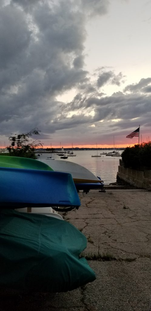 The Point Newport RI Boat Ramp at sunset