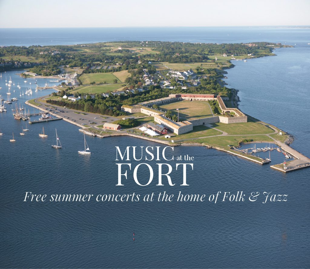 Fort Adams aerial Music at the Fort