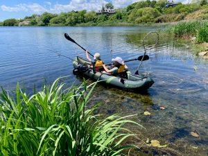 Kids Kayaking on Lilly Pond