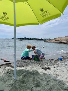 kids at Gooseberry Beach Newport RI