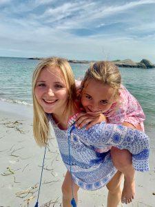 kids at Gooseberry Beach Newport